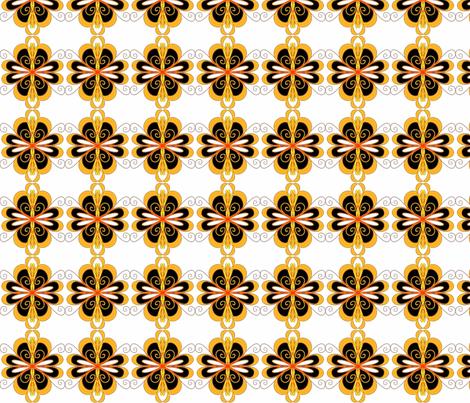Mod Flowers Medium fabric by pwmarcus on Spoonflower - custom fabric