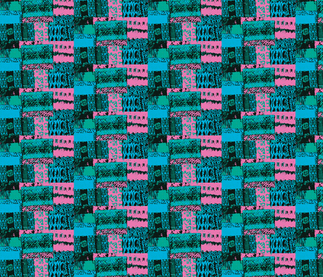 Pink City fabric by menny on Spoonflower - custom fabric