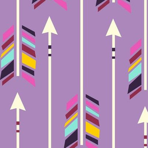 Large Arrows: Radiant Orchid