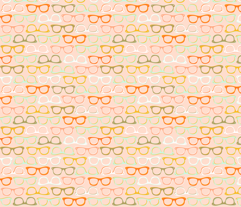 Spec-tacular: Pink fabric by nadiahassan on Spoonflower - custom fabric