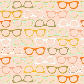 nerd glasses fabric, wallpaper & gift wrap - Spoonflower