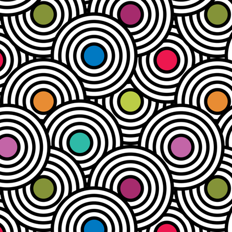 Optic Circles fabric by wrapartist on Spoonflower - custom fabric