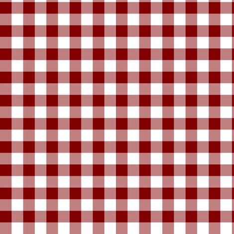 crimson gingham fabric by erin_mcclain_studio on Spoonflower - custom fabric