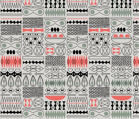 tiki tok 1 fabric by jennski on Spoonflower - custom fabric
