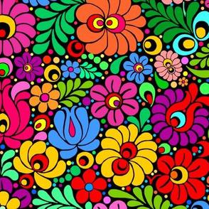 Colorfloral Fiesta colorful folk floral