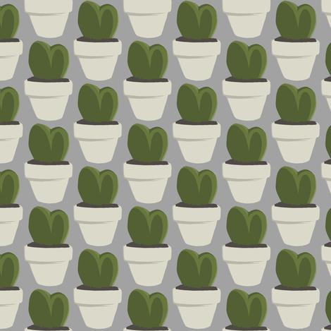 Heart Cacti (Hoya)  fabric by crumpetsandcrabsticks on Spoonflower - custom fabric
