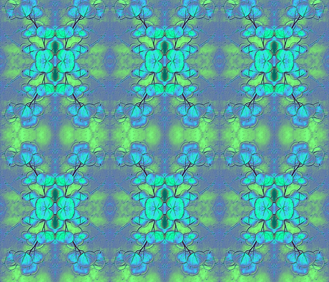 bluegum leaves_inverted and mirror imaged fabric by koalalady on Spoonflower - custom fabric