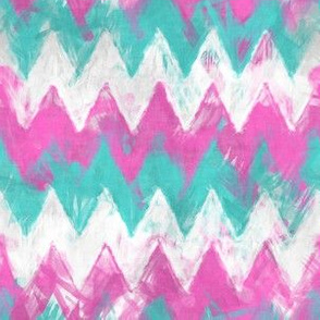 Pink and Mint Chevron