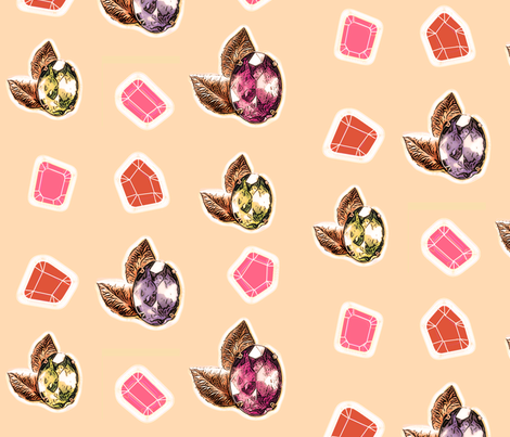 gemstone vintage jewelry fabric by lucybaribeau on Spoonflower - custom fabric