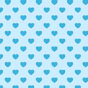 Blue heart pattern