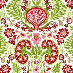 Kidney Damask Red