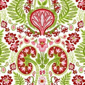 Kidney Damask Red