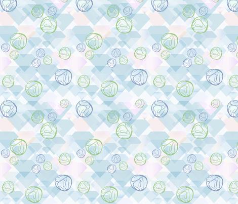 Geodes and Diamonds 2 fabric by vinpauld on Spoonflower - custom fabric