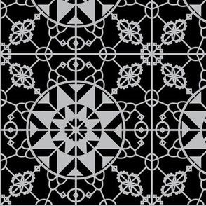 Medieval lace - Monochrome