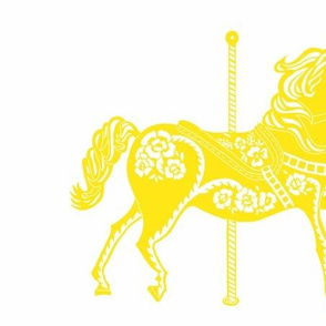 Carousel Horse in Yummy Yellow