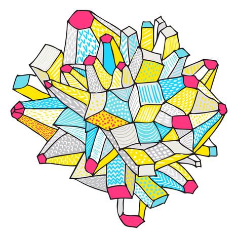 Cally Creates -Gem & Mineral dream fabric by callycreates on Spoonflower - custom fabric