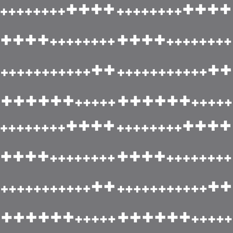 grey swiss cross fabric by ali*b on Spoonflower - custom fabric
