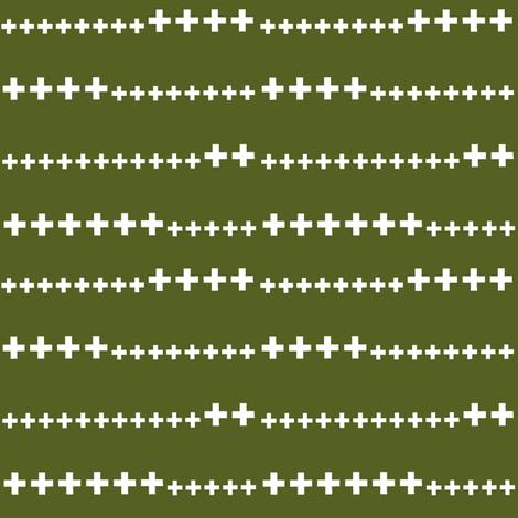grass green swiss cross fabric by ali*b on Spoonflower - custom fabric