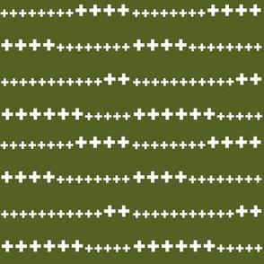 grass green swiss cross