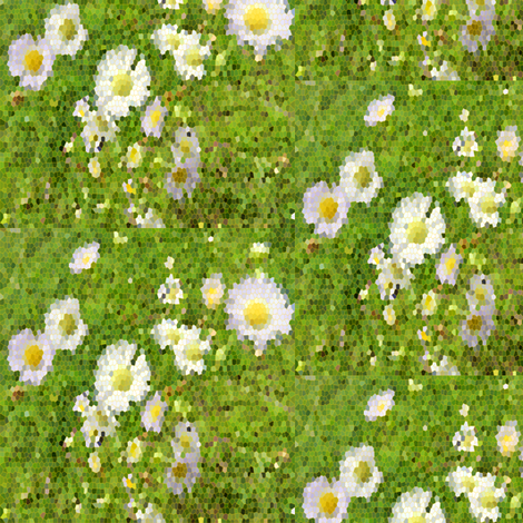 Digital Daisies fabric by revlea_designs on Spoonflower - custom fabric