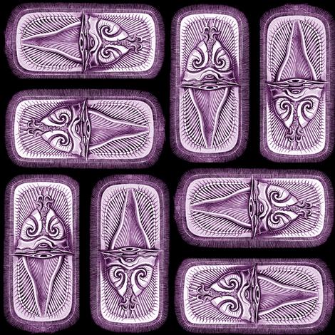 brachiopoda purple fabric by craftyscientists on Spoonflower - custom fabric