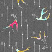 Painted Antlers (Ode to Cassandra Smith) MEDIUM (Original colourway)