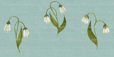 Lily Green on Vintage Seafoam Linen