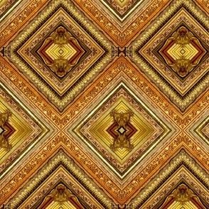 Gilded Frames cheater quilt