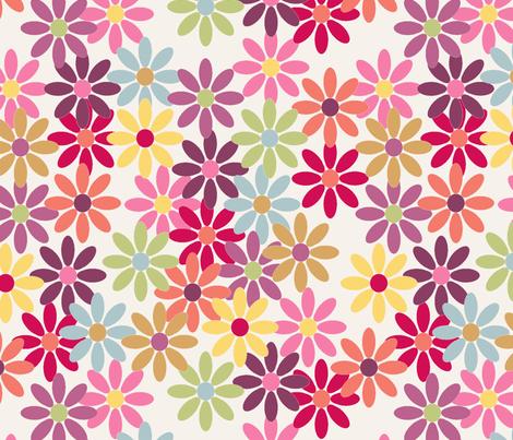 lady_margueritte_fond_ecru_L fabric by nadja_petremand on Spoonflower - custom fabric