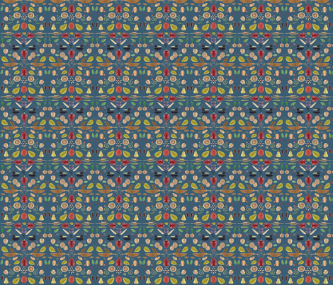The Strawberry Thief fabric by bunnywithatoolbelt on Spoonflower - custom fabric