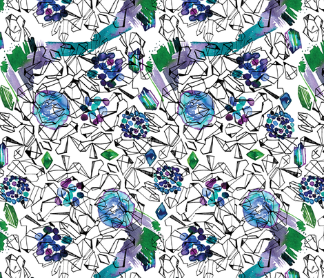 Geodes and Gemstones fabric by locamode on Spoonflower - custom fabric