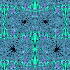 Purple Mint Infinity Spirals