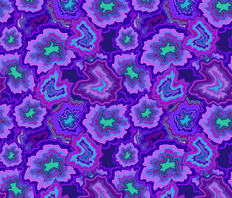 Passionate Purple Agate  fabric by shellypenko on Spoonflower - custom fabric