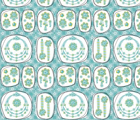 Glorious Gloria's Fabulous Gems fabric by moirarae on Spoonflower - custom fabric