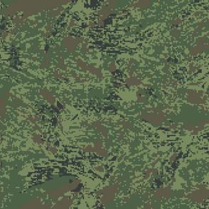 Woodland Tropical Jungle Digital Brush Camo
