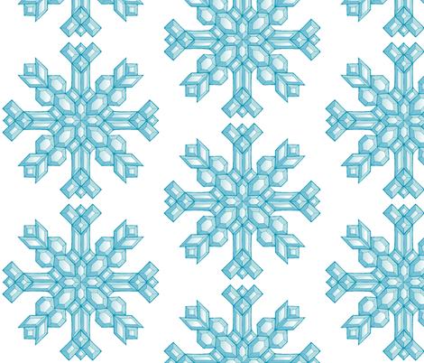 Diamond Snowflakes fabric by art_rat on Spoonflower - custom fabric