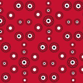 Red, Black and White Spirals