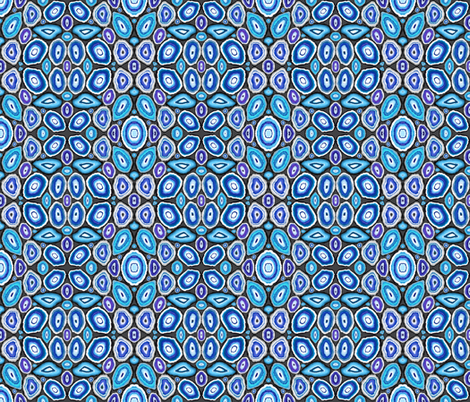 Blue Geodes on Grey fabric by hpdesigns on Spoonflower - custom fabric