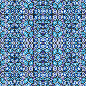 Blue Geodes on Grey