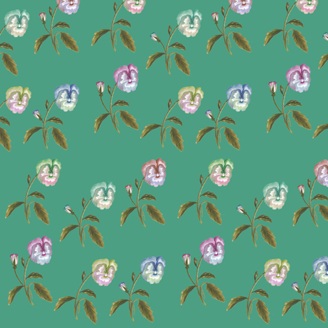 Pansy Meadow fabric by thistleandfox on Spoonflower - custom fabric