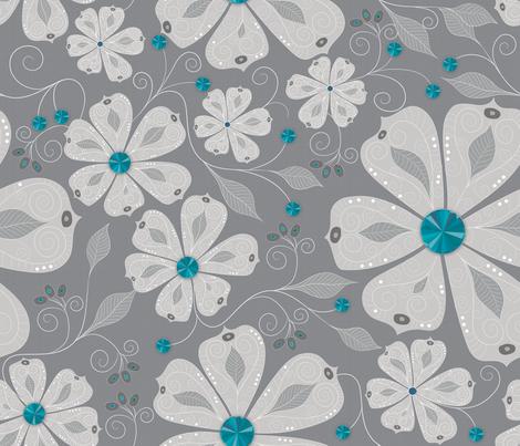 Aquamarine Bling 2 fabric by liluna on Spoonflower - custom fabric