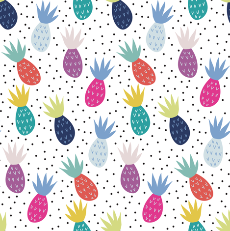 Tropical summer fabric by demigoutte on Spoonflower - custom fabric