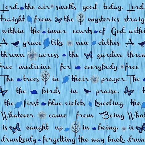 Blue Rumi fabric by keweenawchris on Spoonflower - custom fabric