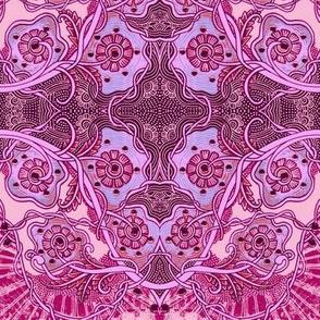 Tie Dye Pink Sky