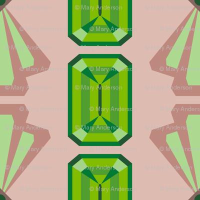 Emerald Deco Stripe