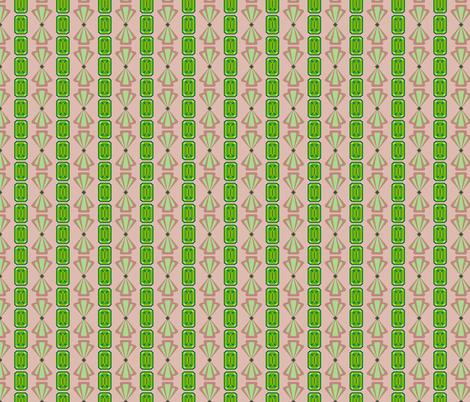 Emerald Deco Stripe fabric by anderson_designs on Spoonflower - custom fabric