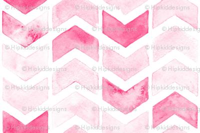 Herringbone Arrows in Pink