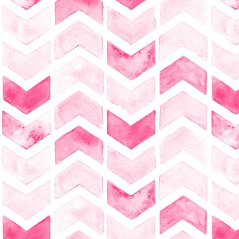 Herringbone Arrows in Pink fabric by hipkiddesigns on Spoonflower - custom fabric
