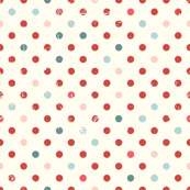 Vintage Dots in Pomegranate and Mint