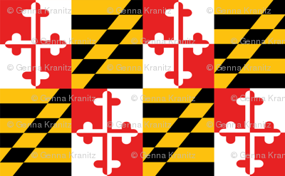 Maryland flag - two flags fill 58 x 36 inches